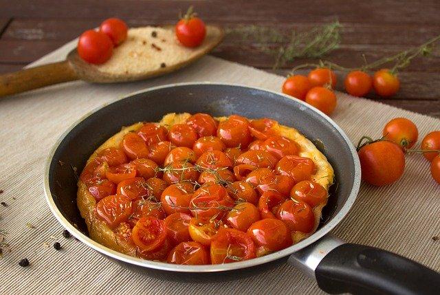 トマト炒める